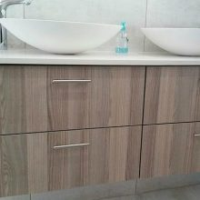 Bathroom Vanity with Upmarket Finishes and Double Basin